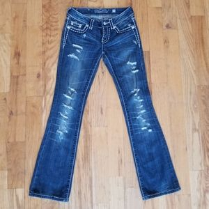 MISS ME GREAT CONDITION DISTRESS RIP STITCH JEANS